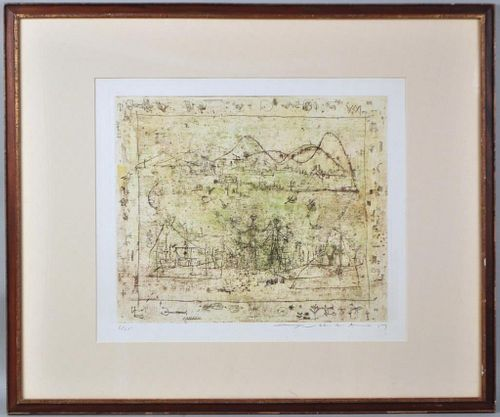 Zao Wou-Ki Signed Lithograph In Colors