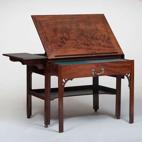 George III Mahogany Architect's Table