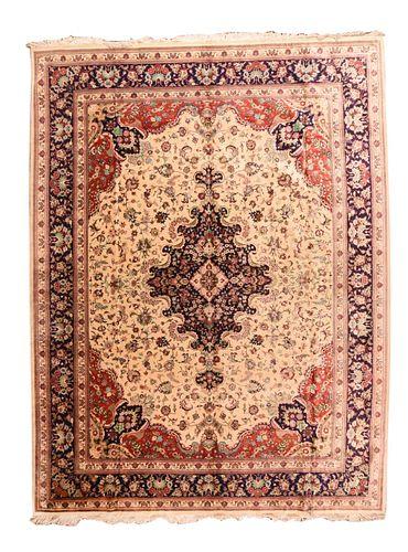 Silk Qum Rug, 10'1'' x 13'6''