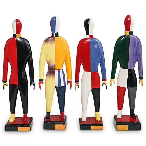 (4 Pc) After Kazimir Malevich Sportsmen Guggenheim