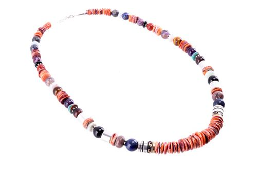 Navajo Tommy Singer Spiny Turquoise Necklace