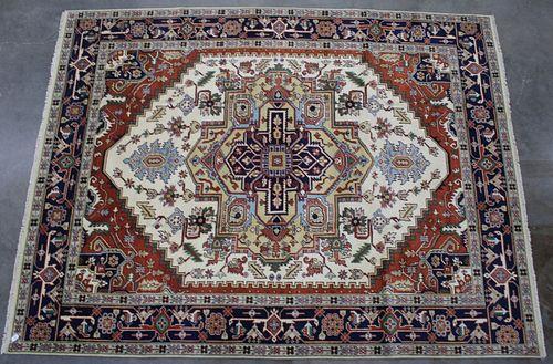 Heriz Serapi Persian Hand Knotted Wool Area 1930