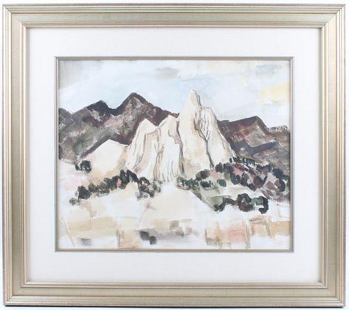 William Thomas Lumpkins Landscape Watercolor