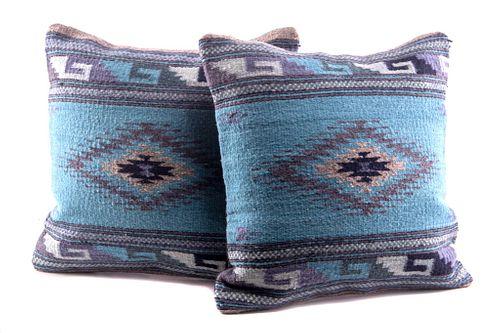 Diamante Azul Wool Set of Pillows by A. Martinez
