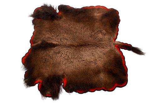 1998 Yellowstone National Park Buffalo Hide Rug