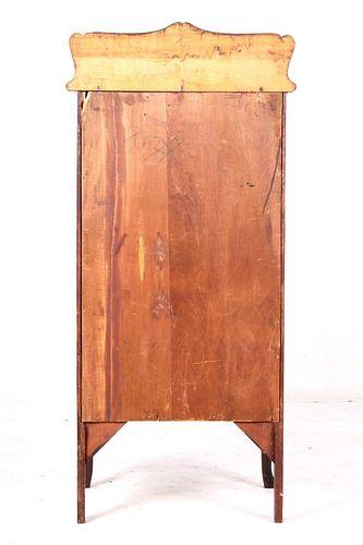 LATE 1800s Colonial Cabriole Oak Cupboard