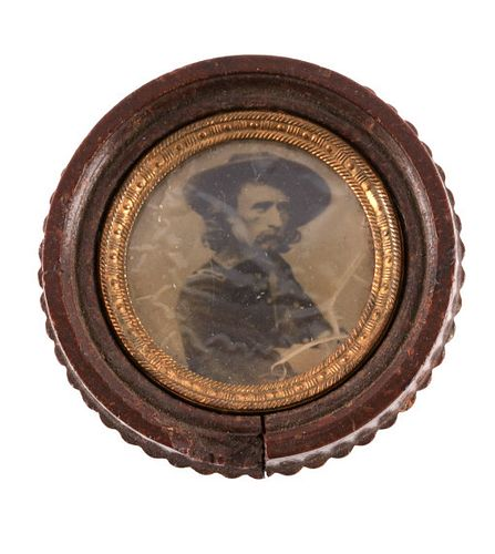 Early George Armstrong Custer Ambrotype 1800's