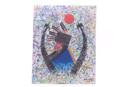 Original Dau-Law-Tain Kiowa Peyote Painting 2021