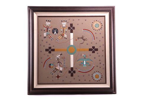 Navajo Yei Original Creation Story Sand Painting