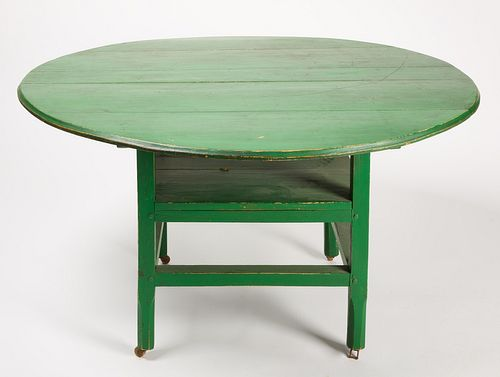Hutch Table in Green Paint
