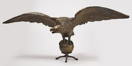 Monumental Zinc Architectural Eagle