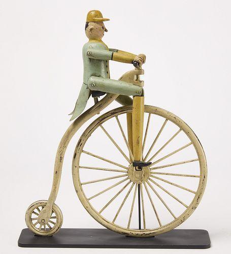 Whirligig-Man Riding High-Wheel Bicycle