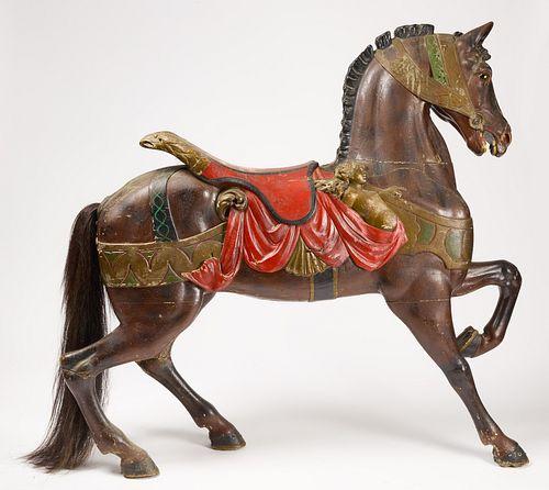 Gustav Dentzel Carousel Horse on Stand
