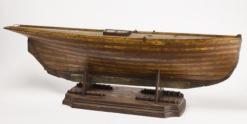 Early Ship Model on Stand