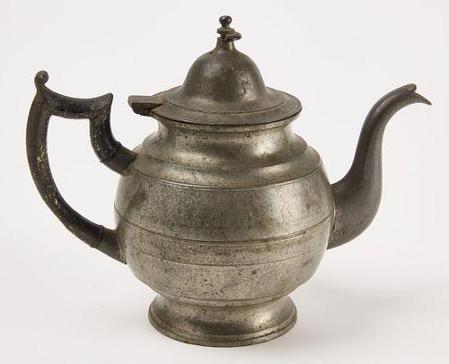 Rare Eagle Touch Sellew Pewter Tea Pot