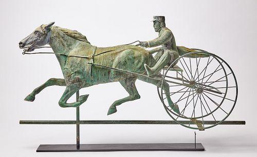 Fine Horse and Sulky Weathervane