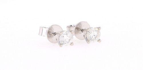 Brand New Diamond 14K White Gold Stud Earrings