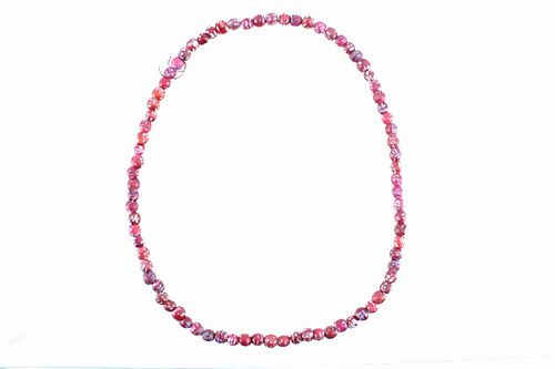 CornalineD'Aleppo White Heart Venetian Trade Beads