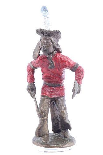 1986 Tom Knapp (1925-2016) War Dancer Bronze