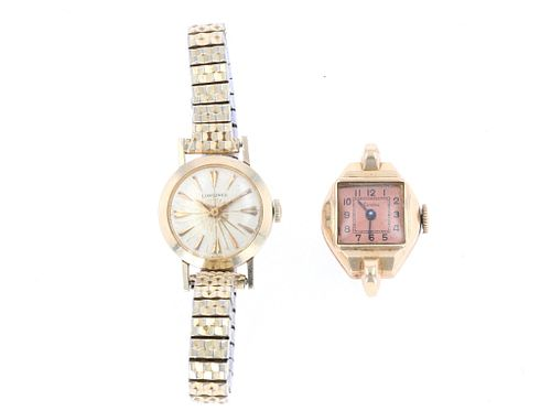 14k-10k Gold Longines & Landau Watch Collecition