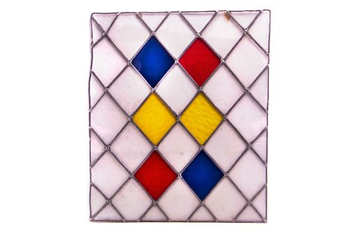 Lead Seamed Stained Glass Pub Window C. 1920