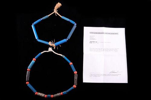 Pair Of Nuevo Cadiz 1800's Trade Bead Necklaces