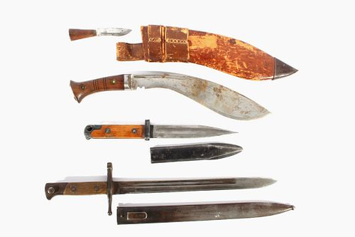 Early Fighting Knives & Bayonets w/ Scabbards