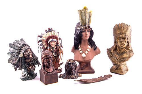 Indian Chief Busts & Sacred Feather Collection