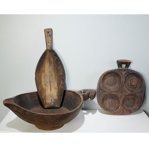 Various African Regions, (3) large artifacts