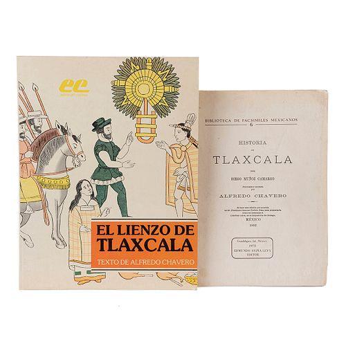 Muñoz Camargo, Diego / Chavero, Alfredo. Historia de Tlaxcala / El Lienzo de Tlaxcala. Piezas: 2.