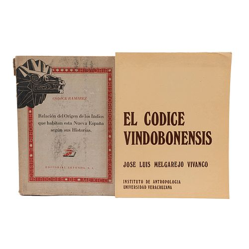 Orozco y Berra, Manuel / Melgarejo Vivanco, José Luis. Códice Ramírez / El Códice Vindobonensis.  Piezas: 2.