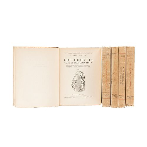 Girard, Rafael. Los Chortis ante el Problema Maya. México: Edición Cvltvura, 1949. Primera edición. Piezas: 5.