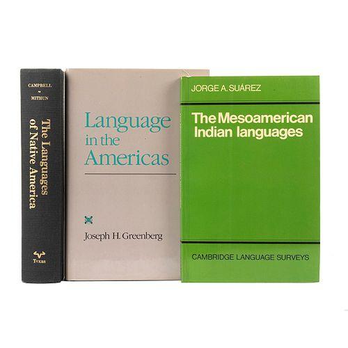 Greenberg, Joseph H. / Suárez, Jorge A. / Campbell, Lyle. Language in the Americas / The Mesoamerican Indian Languages... Piezas: 3.