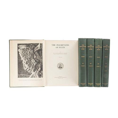 Griswold Morley, Sylvanus. The Inscriptions of Peten. Washington: 1937 - 38. Piezas: 5.