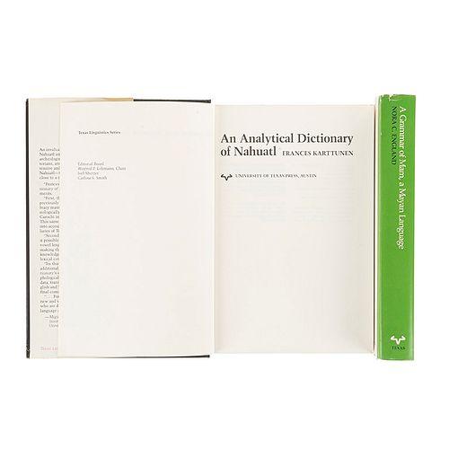 Karttunen, Frances / England, Nora C. An Analytical Dictionary of Nahuatl / A Grammar of Mam, a Mayan Language. Pzs: 2.