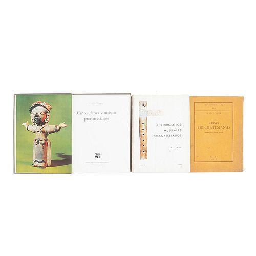 Martí, Samuel / Porter, Muriel R. Instrumentos Musicales Precortesianos / Canto, Danza y Música Precortesianos. Piezas: 3.