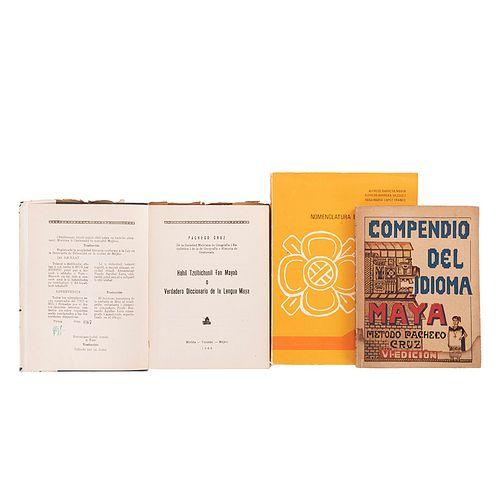 Pacheco Cruz, Santiago / Barrera Marín, Alfredo. Compendio del Idioma Maya / Hahil Tzolbichunil... Piezas: 3.