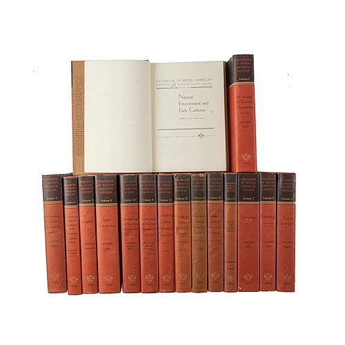 Wauchope, Robert. Handbook of Middle American Indians. Texas: University of Texas Press.  Piezas: 16.