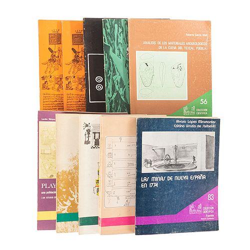 Colección Científica. México: Instituto Nacional de Antropología e Historia - SEP, 1974 - 1982. Piezas: 13.