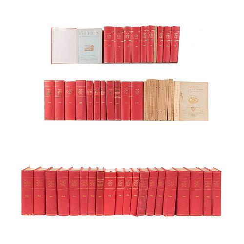 Colección del Boletín Archivo General de la Nación. México: Talleres Gráficos de la Nación / Secretaría de Gobernación 1930-76. 55pzs