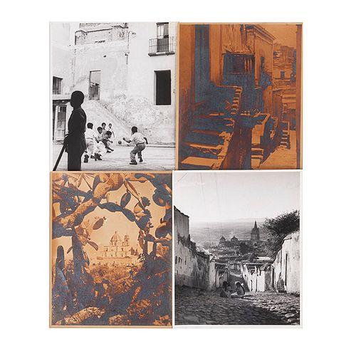 Mustafá (Luis Calvillo de la Vega) / Massart, Georges Yves. Vistas de Guanajuato / Aspectos de Puebla y San Miguel de Allende. Piezas:4