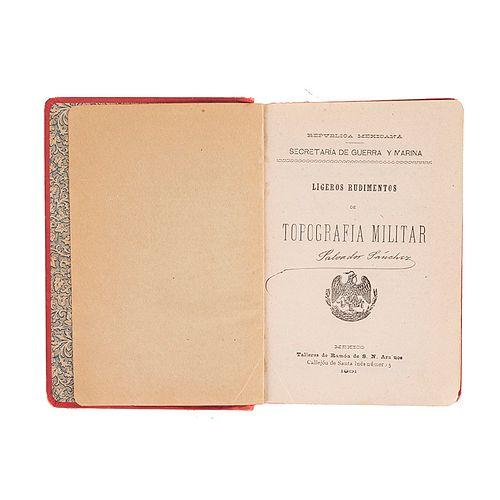 Manual del Oficial Reservista. Infantería. México: Talleres de Ramón de S. N. Araluce, 1901. 9 láminas e ilustraciones intercaladas.