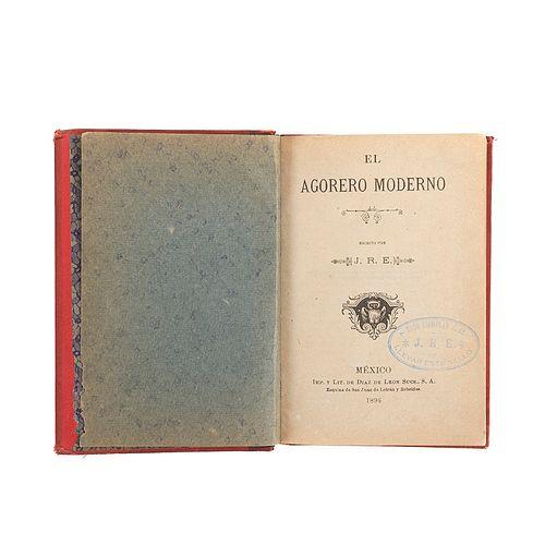 J. R. E. El Agorero Moderno. México: Imp. y Lit. de Díaz de León y Sucs., 1896. Una lámina en color plegada.