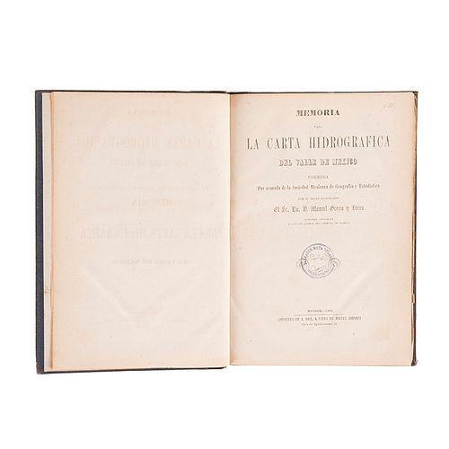 Orozco y Berra, M. Memoria para la Carta Hidrográfica del Valle de México. Plano de México Tenochtitlan y Carta Hidrográfica. Méx: 1864