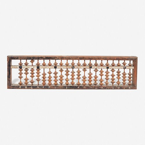 A large Japanese abacus kanban (shop sign) 日本大算盘看板 Meiji/Taisho period 明治至大正