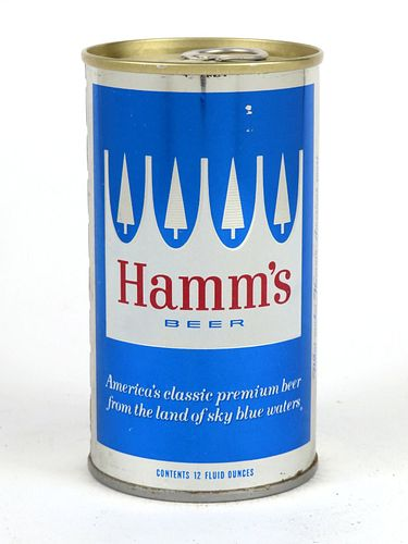 1968 Hamm's Beer  12oz Tab Top Can T72-40