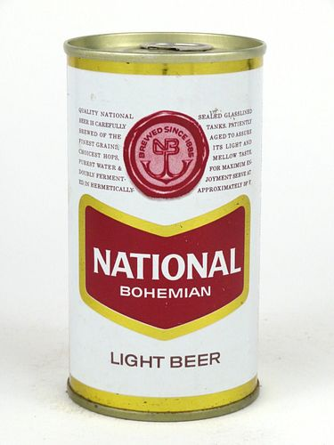 1964 National Bohemian Light Beer 12oz Tab Top Can T96-40