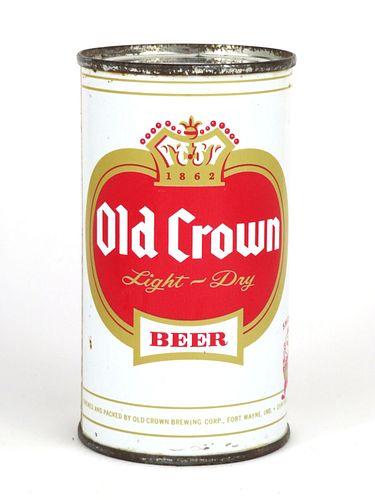 1961 Old Crown Beer 12oz Flat Top Can 105-22