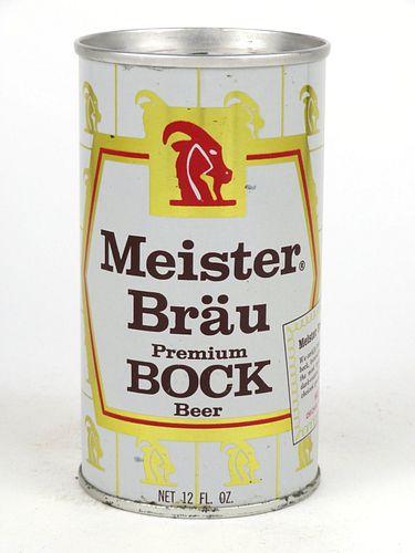 1968 Meister Brau Bock Beer 12oz Tab Top Can T92-26