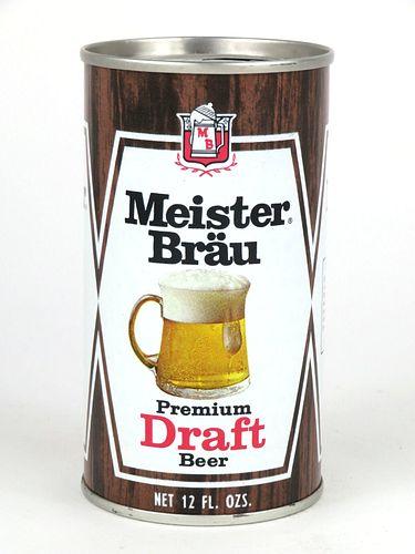 1968 Meister Brau Draft Beer 12oz Tab Top Can T92-25.2